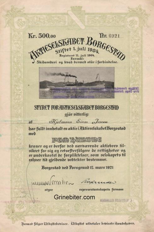 Borgestad Aksjebrev