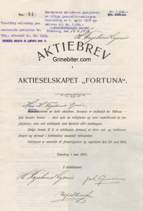 Fortuna Aksjebrev