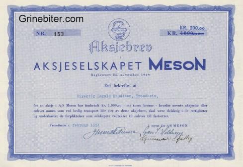 Meson Aksjebrev