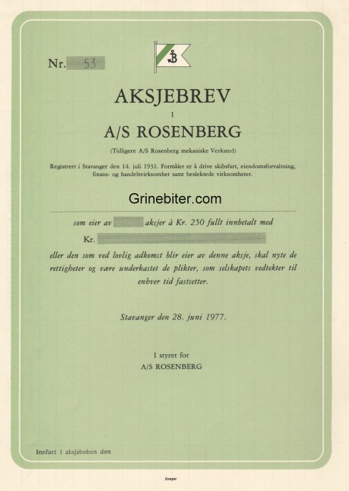 Rosenberg Aksjebrev