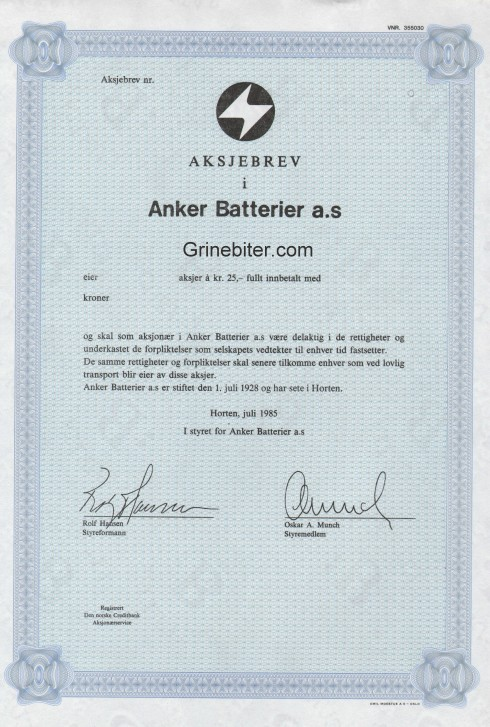 Anker Batterier