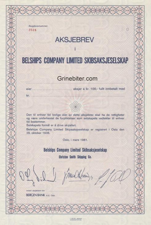 Belships Comp Limited