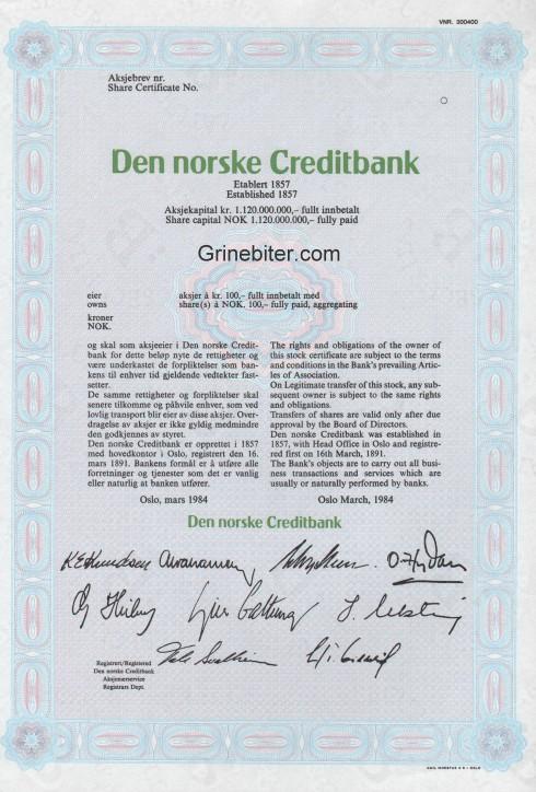 Den norske Creditbank
