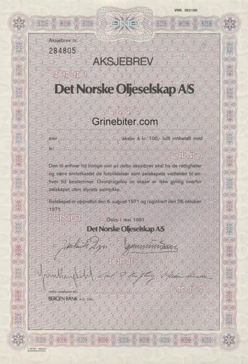 Det Norske Oljeselskap