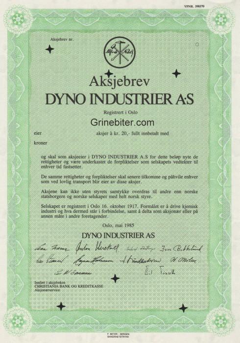 Dyno Industrier