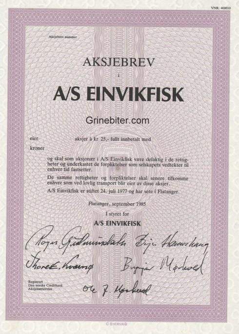 Einvikfisk