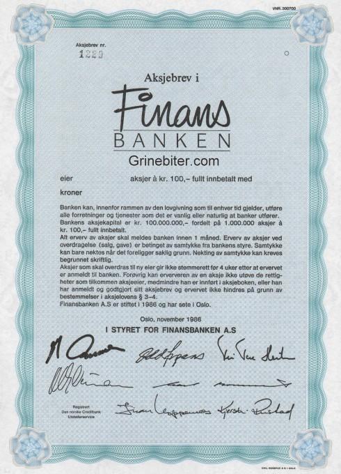 Finans Banken