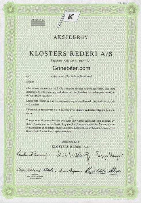Klosters Rederi