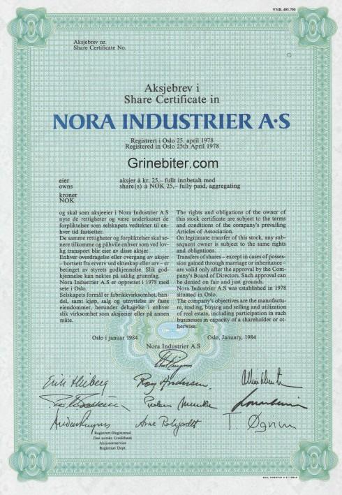 Nora Industrier