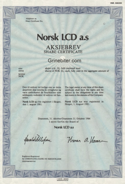 Norsk LCD