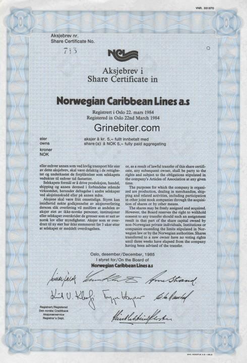 Norwegian Caribbean Lines