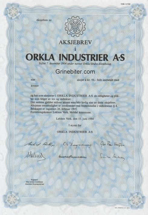 Orkla Industrier