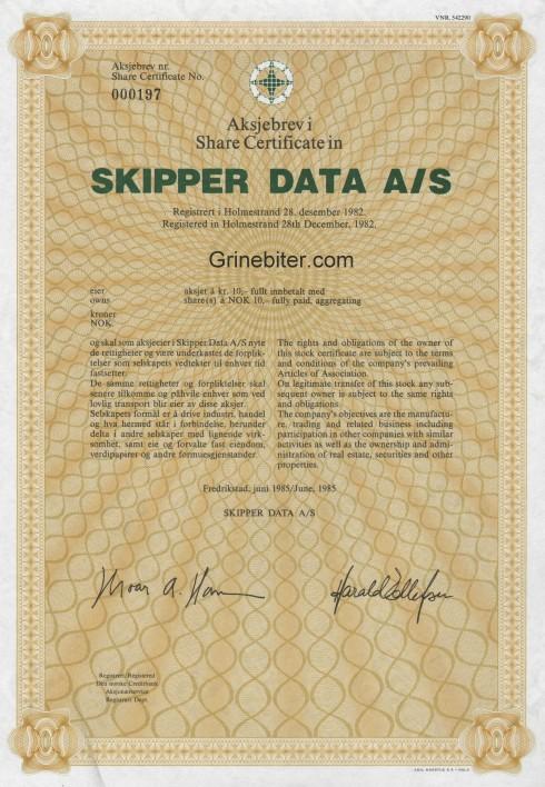 Skipper Data