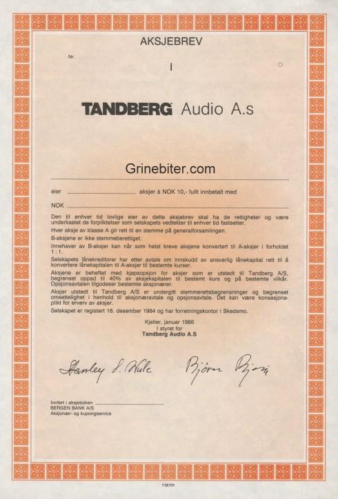 Tandberg Audio
