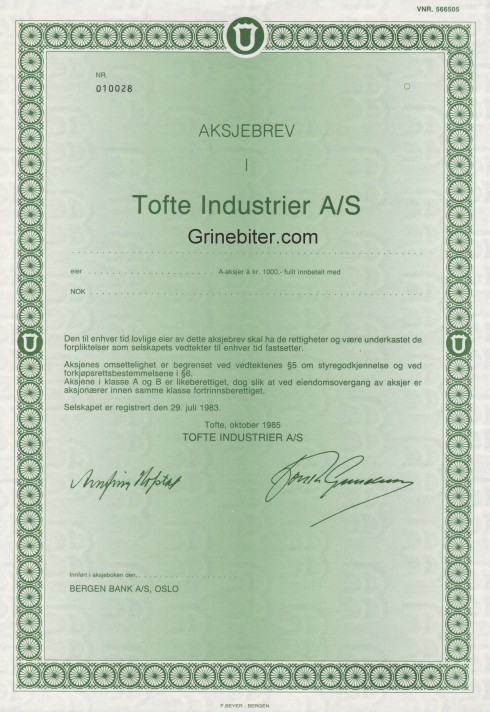 Tofte Industrier