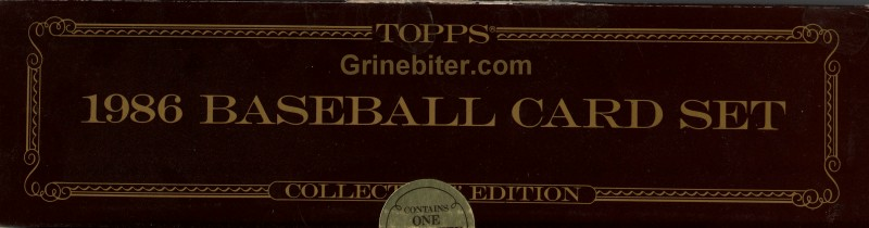 Topps Collector 1986