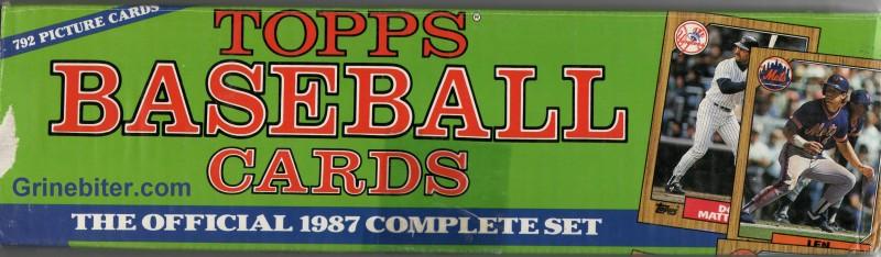 Topps Set 1987