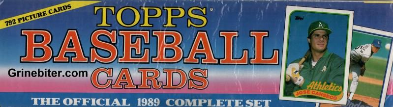 Topps 1989 Complete Baseball Card Set