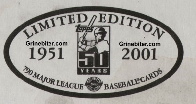Topps Limited 2001