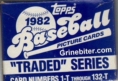 Topps Traded Series 1982