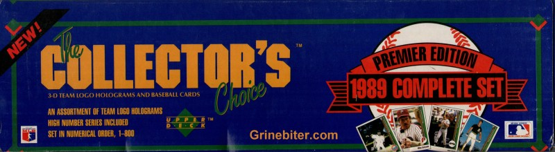 Upper Deck Collector 1989