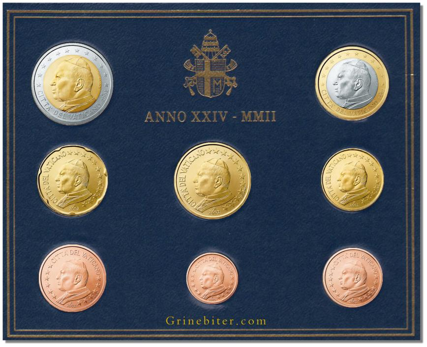 Vatican Euro Coin Set 2002