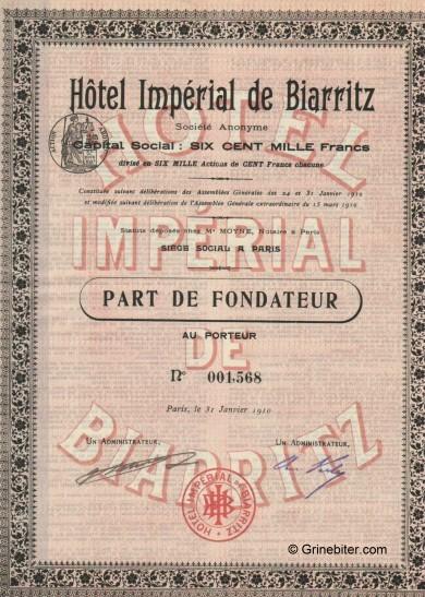 Hotel Imperial de Biarritz