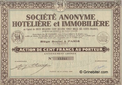 Societe Anonyme Hotelliere et Immobiliere