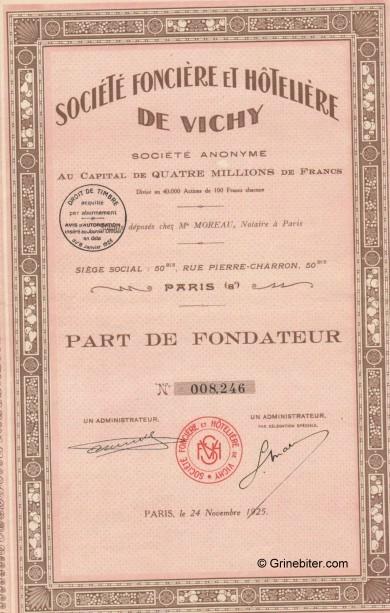 Societe Fonciere et Hoteliere De Vichy