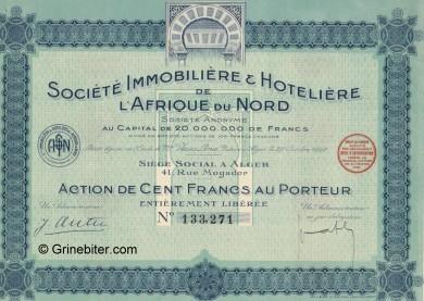 Societe Immobiliere & Hoteliere L'Afrique du Nord