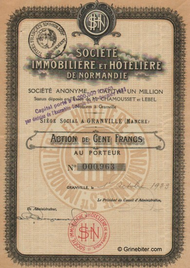 Societe Immobiliere et Hoteliere De Normandie