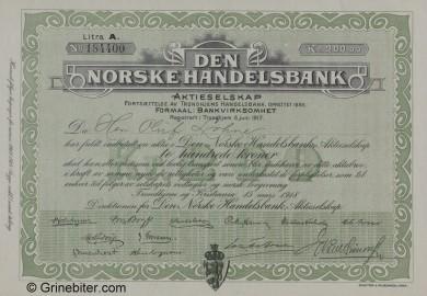 Den Norske Handelsbank aksjebrev