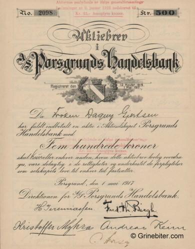 Porsgrunds Handelsbank