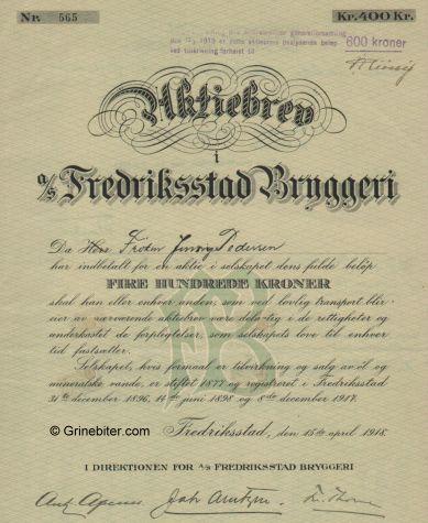 Fredriksstad Bryggeri A/S