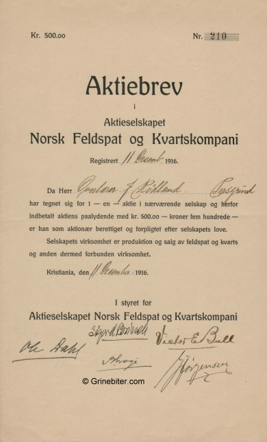 Norsk Feldspat & Kvartskompani
