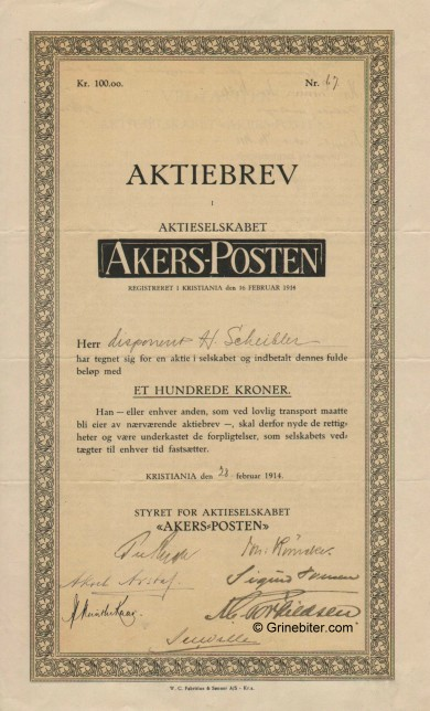 Akers-Posten A/S