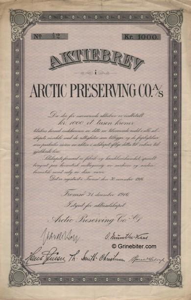 Arctic Preserving CO A/S