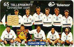 Fotball Norway Team 1998