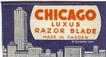 Chicago Razor Blade Wrapper