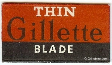 Gillette Razor Blade Wrapper