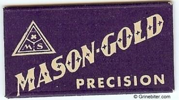 Mason Gold Razor Blade Wrapper