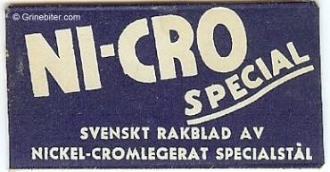 Ni-Cro Stern Razor Blade Wrapper