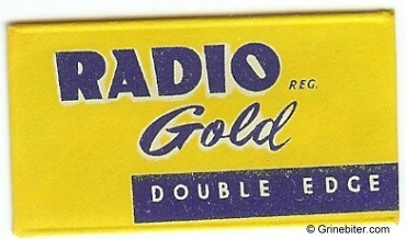 Radio Gold Razor Blade Wrapper