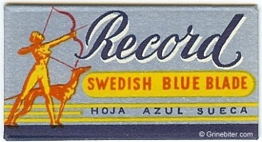 Record Razor Blade Wrapper