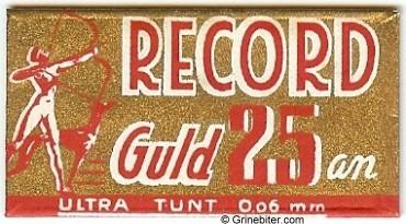 Record Guld Razor Blade Wrapper