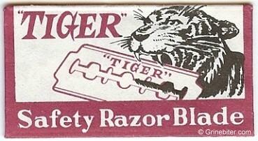 Tiger Razor Blade Wrapper