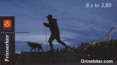 Holmenkollbakken i Oslo FH102 frimerkehefte