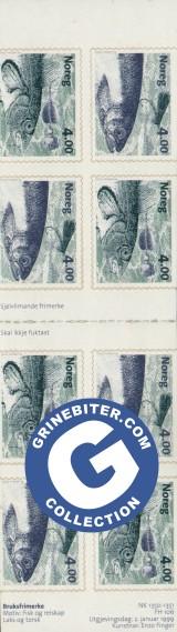 FH106 Laks og laksefluge, torsk og spinnar frimerker