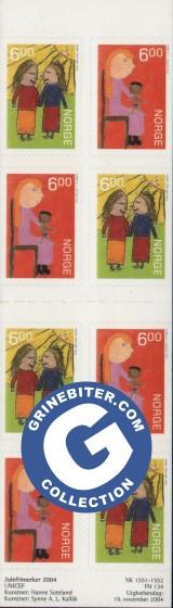 FH134 Jul 2004 Barns rettigheter frimerker