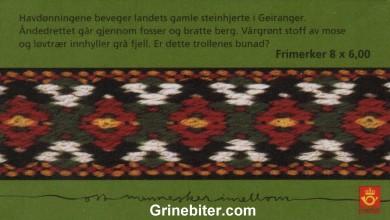 Geiranger FH135 frimerkehefte